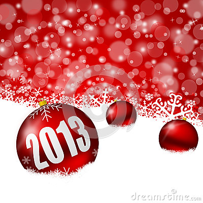 Red new years background