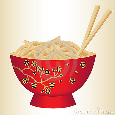 Free Red Noodle Bowl Stock Photography - 5488522