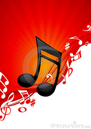 Red note music background
