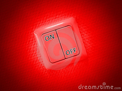 Red on and off switch