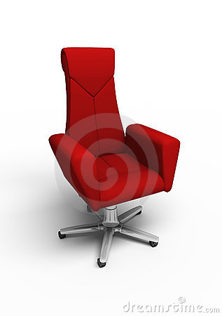 Free Red Office Armchair Stock Images - 19879324