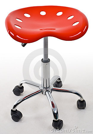 Red office stool