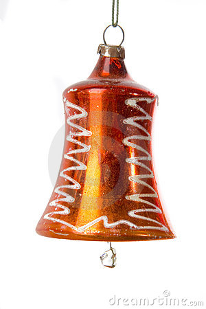 Free Red Old Christmas Bell Stock Photography - 6498692