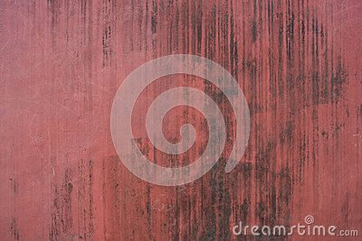 Red old vintage aged cement street rusty grunge Stock Photo