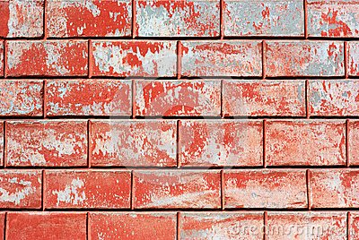 Red old wall