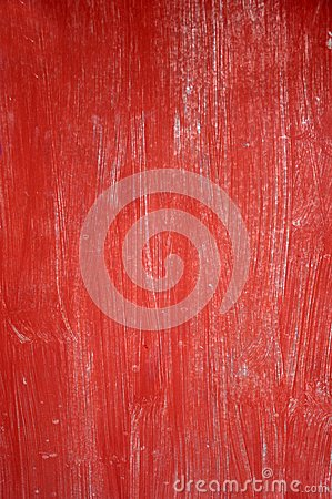 Red old wooden board