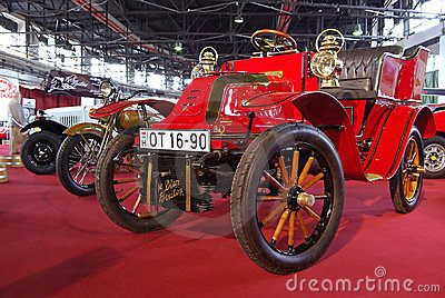 Red oldtimer car Editorial Image