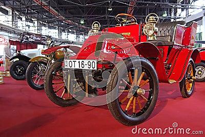 Red oldtimer car Editorial Image