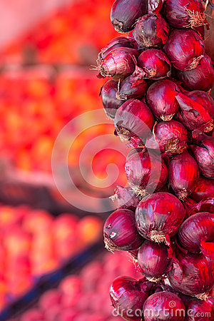 Red Onions at the Fresh Produce Market