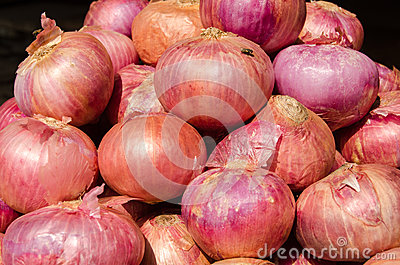 Red Onions in an Indian Market