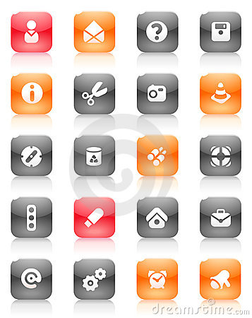 Red and orange buttons miscellaneous