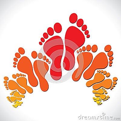 Red-orange foot  background