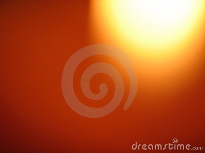 Red and orange with globe of l