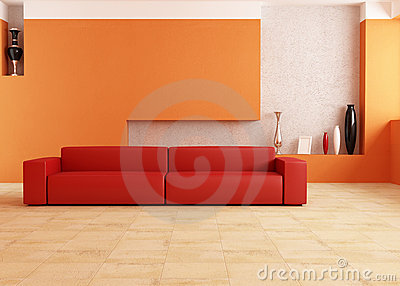 Red And Orange Living Room Royalty Free Stock Images Image 16546919