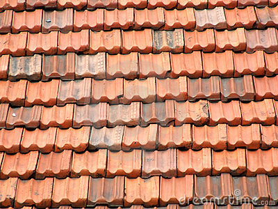 Red and orange roof tiles
