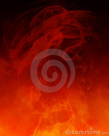 Red orange smoke background