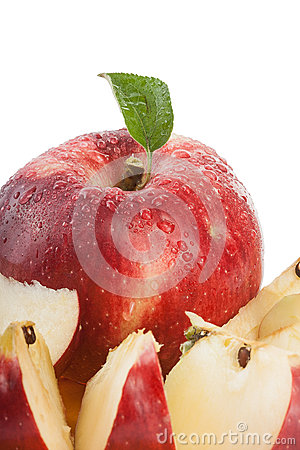 Red organic apple