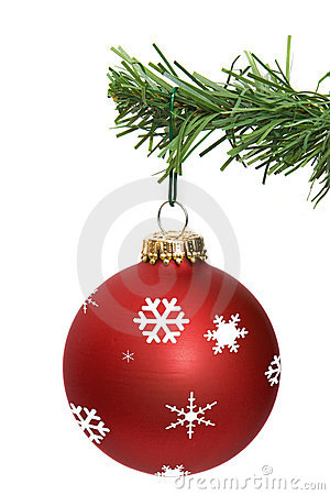 Red ornament hanging