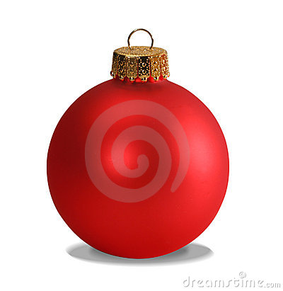 Free Red Ornament With Clipping Path Royalty Free Stock Photos - 382598
