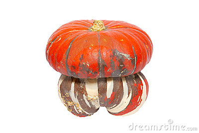 Red ornamental pumpkin