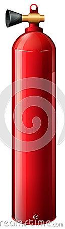 A red oxygen tank
