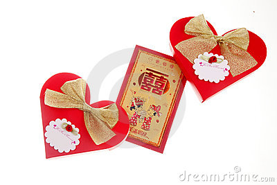 Red packets and candy packaging