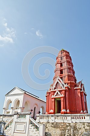 Red Pagoda at Phra Nakhon Khiri Park