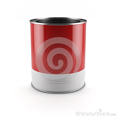 Red paint container