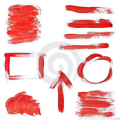 Red Paint Design Elements