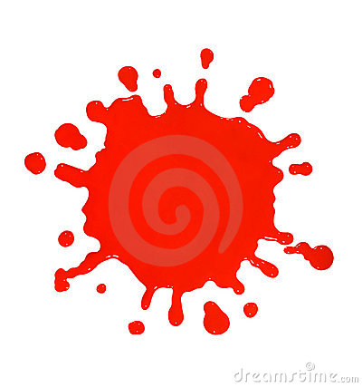 Free Red Paint Splat Royalty Free Stock Photo - 13060235