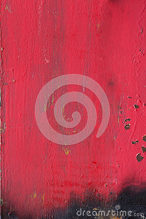 Red painted metal plate