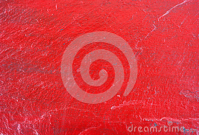 Red painted slate