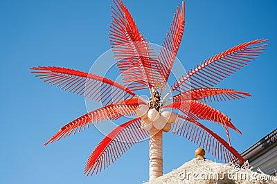 Red palm tree