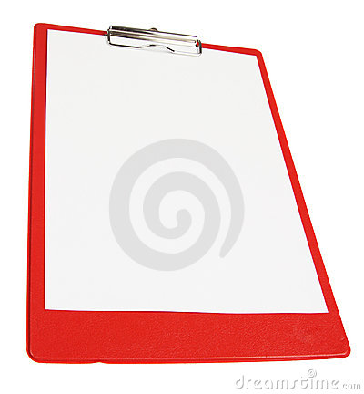 Red paper board