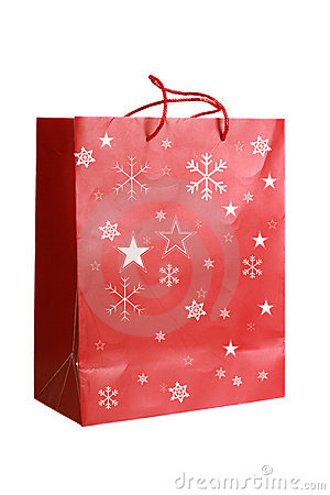 Red Paper Christmas Bag