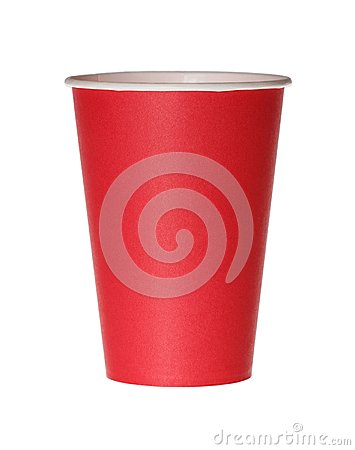 Free Red Paper Cup Isolated On White. Royalty Free Stock Photos - 122373358