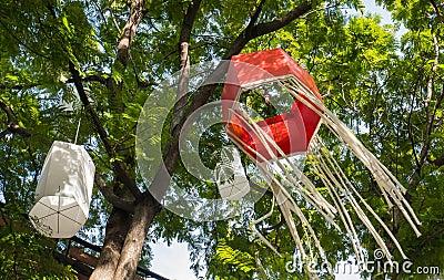 Japanese lantern for decorate.