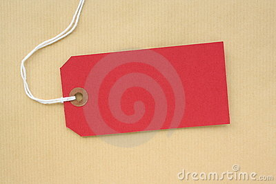 Red Paper Luggage Tag