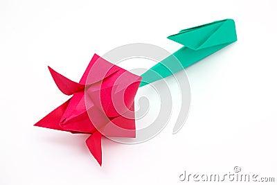 Red paper tulip