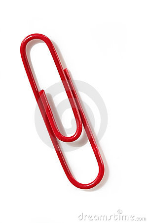 Free Red Paperclip Stock Photo - 2843230