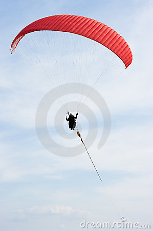 Free Red Paraglider Stock Photos - 19214173