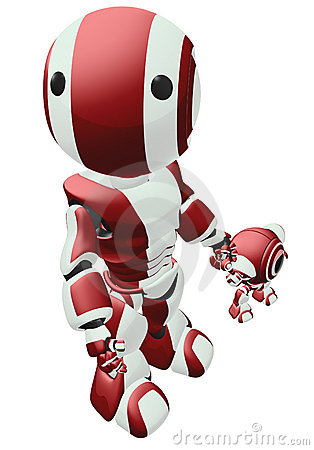 Red Parenting Robot