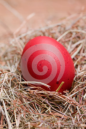 Red pastel easter egg