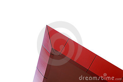 Red peak building architecural feature
