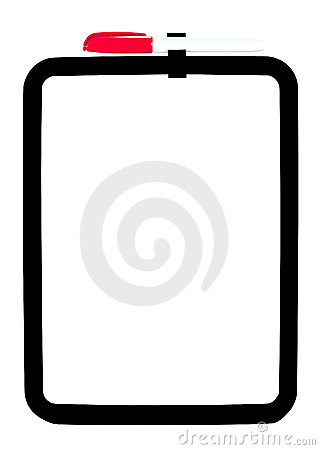 Free Red Pen On Dry Erase Board Royalty Free Stock Image - 23096986