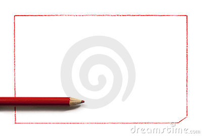 Red Pencil with Border