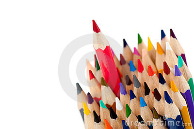 Red pencil - the leader