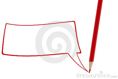 Red pencil writing