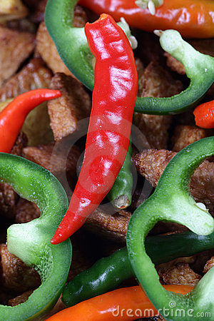 Red pepper and capsicum