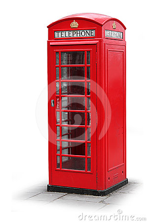 Red phone booth in London UK